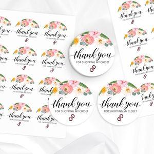 POSHMARK STICKERS | Peony Flowers | 100 Stickers